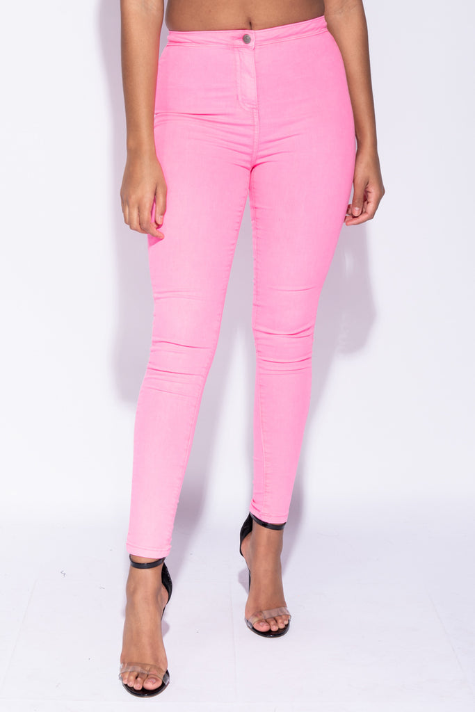 Image: Neon Pink High Waisted Jeggings