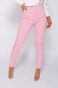 Pink High Waisted Skinny Jegging