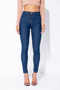 Indigo High Waisted Jeggings