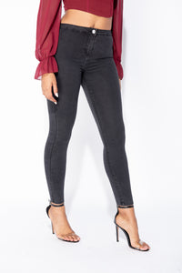 Charcoal High Waisted Skinny Jegging