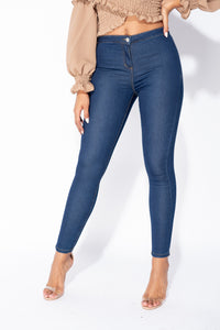 Indigo High Waisted Skinny Jegging