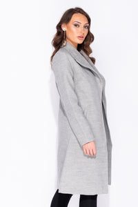 Light Grey Longline Duster Coat