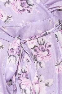 Lilac Rose Wrap Front Cami Strap Playsuit