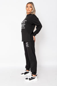 Black Ye Saint West Sweatshirt & Jogger Lounge Set