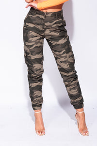 Camo Cargo Camouflage Trousers - Parisian-uk