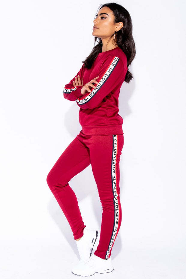 Image: Wine Kiki Do You Love Me Loungewear Set