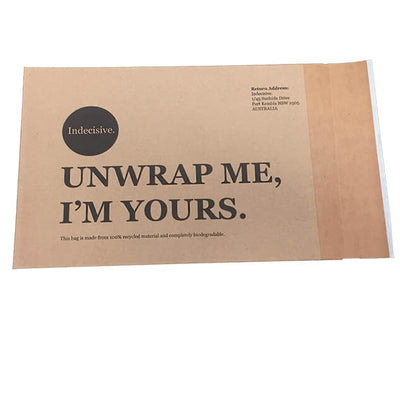 Custom Paper Mailers, Kraft Envelope Mailing Bags with Peel and Seal Flap
