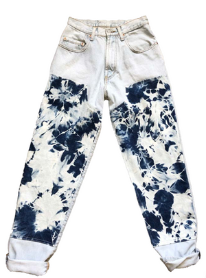 THE DENIM TIE-DYE WORK PANT- Women