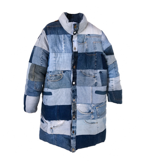THE LONG DENIM PUFFER