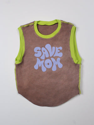 """Save Mom"" Muscle Tee"