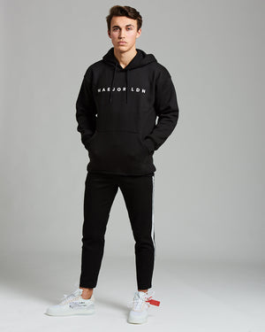Drop Shoulder Hoodie Black