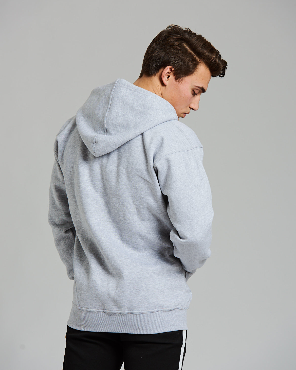 Drop Shoulder Hoodie Grey