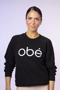 obé signature sweatshirt, black