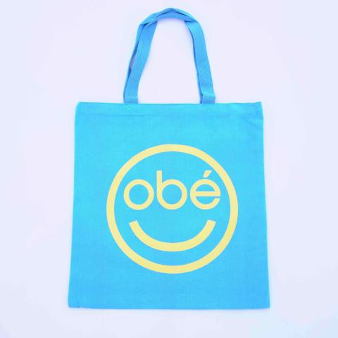 obé canvas tote bag