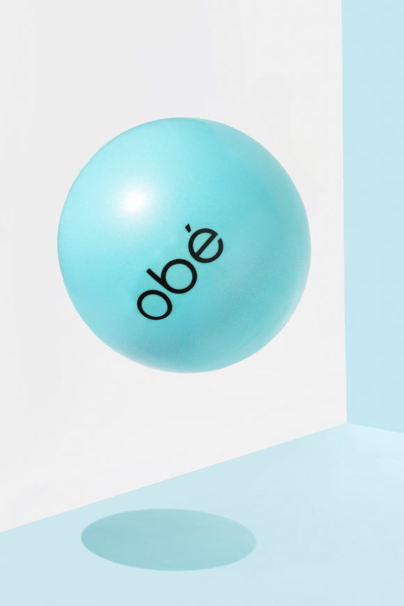 obé barre ball, teal