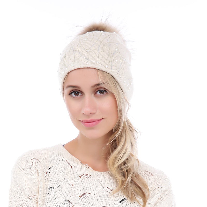 Cashmere   Wool Hat - Cream – Ména Boutique 8f49918d866