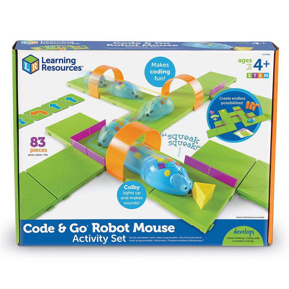 Activity set includes 16 plastic base pieces,
