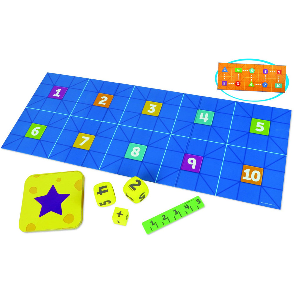 Code & Go Robot Mouse Math activity set supports on a variety of key math areas, including addition, substraction and number sequencing.