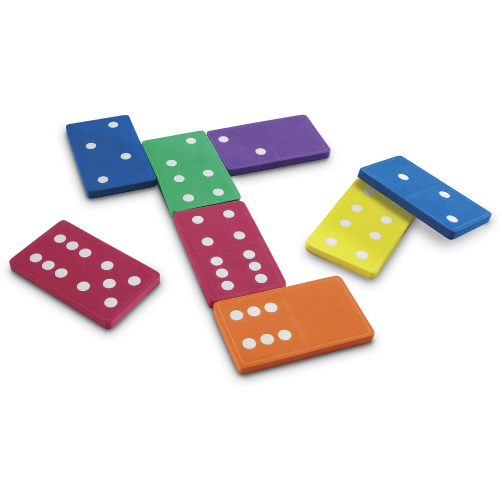 Jumbo Dominoes, with Lightweight soft foam, allow for quiet individual or group activities and game play.