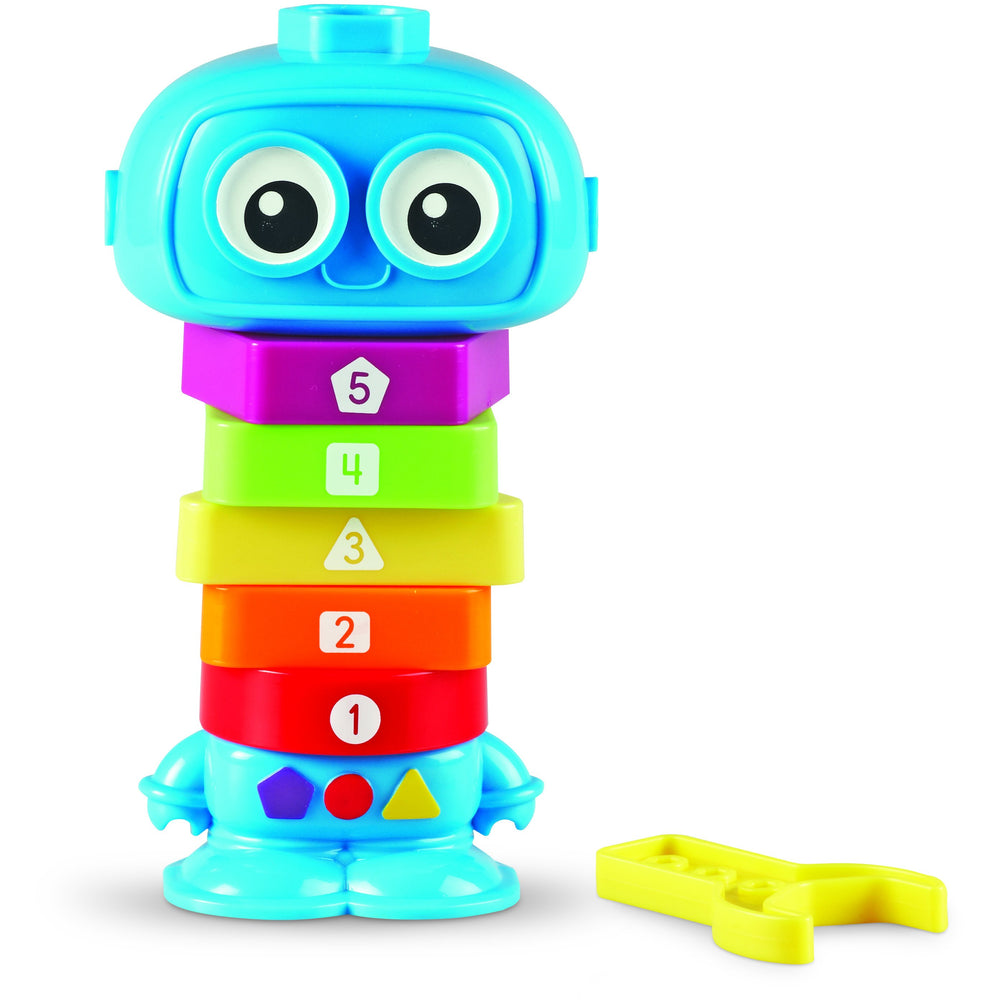 Children will have a blast using an easy-to-hold wrench to build their very own robot.