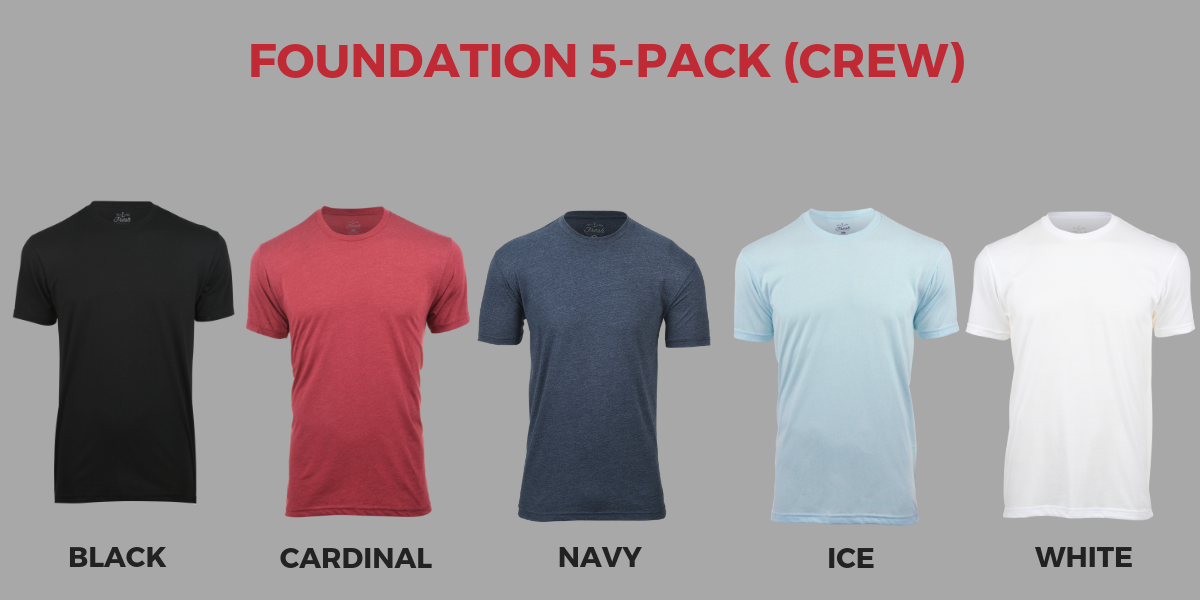 Fresh Clean Tees Foundation 5-Pack