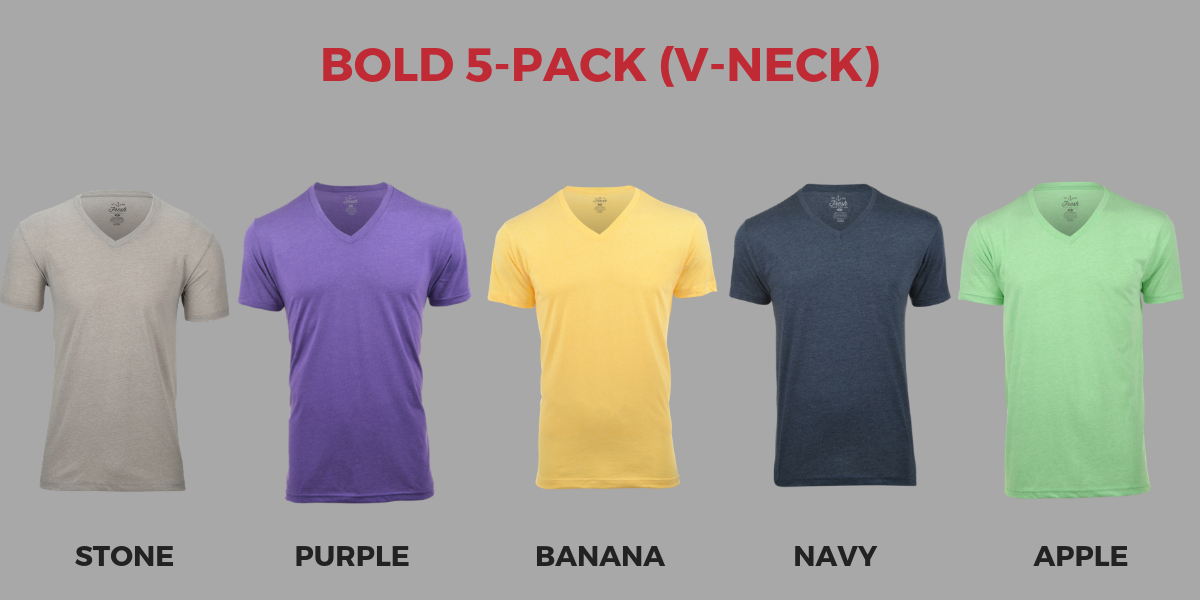 Fresh Clean Tees Bold 5-Pack