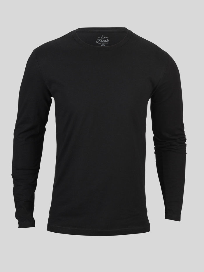 Black Long Sleeve Crew Neck