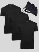 All Black Tee & Mask 3-Pack
