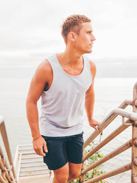 Grey Beach Tank Top (100% Cotton)