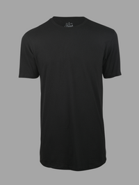 Longline Black Crew Neck (100% cotton)