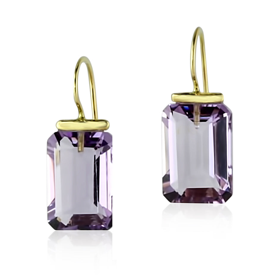 Amethyst Rectangle Drops