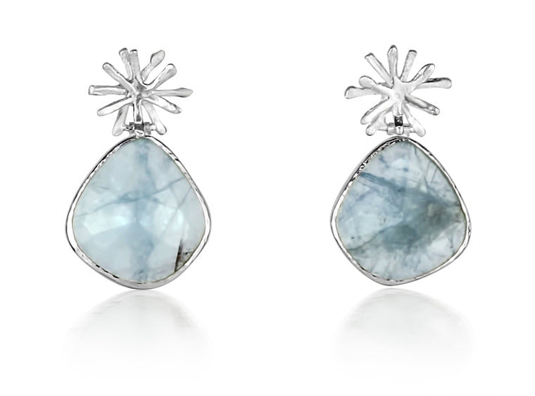 Aquamarine Burst Drops