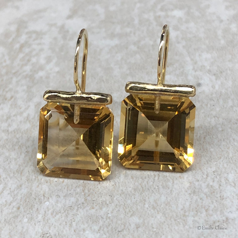Citrine Square Drops