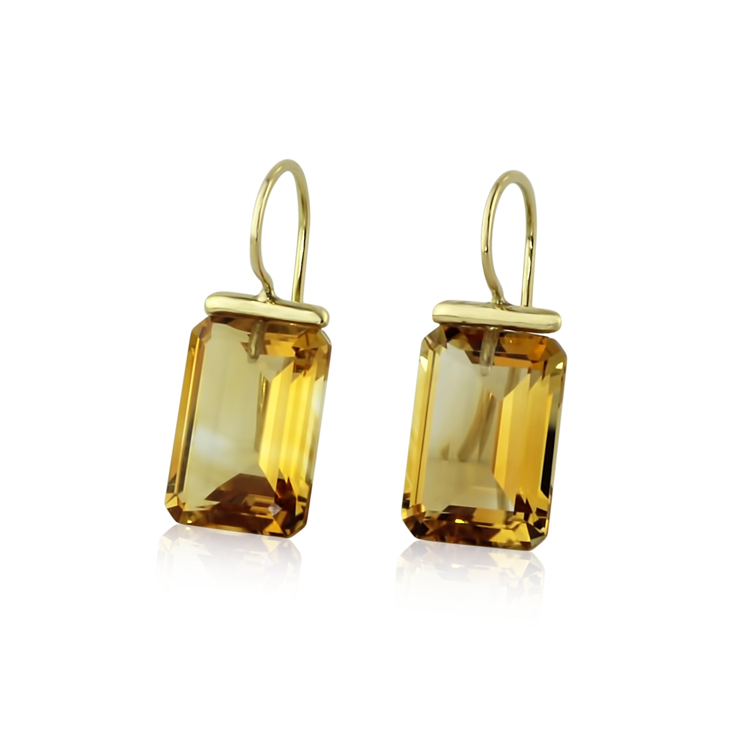 Citrine Rectangle Drops