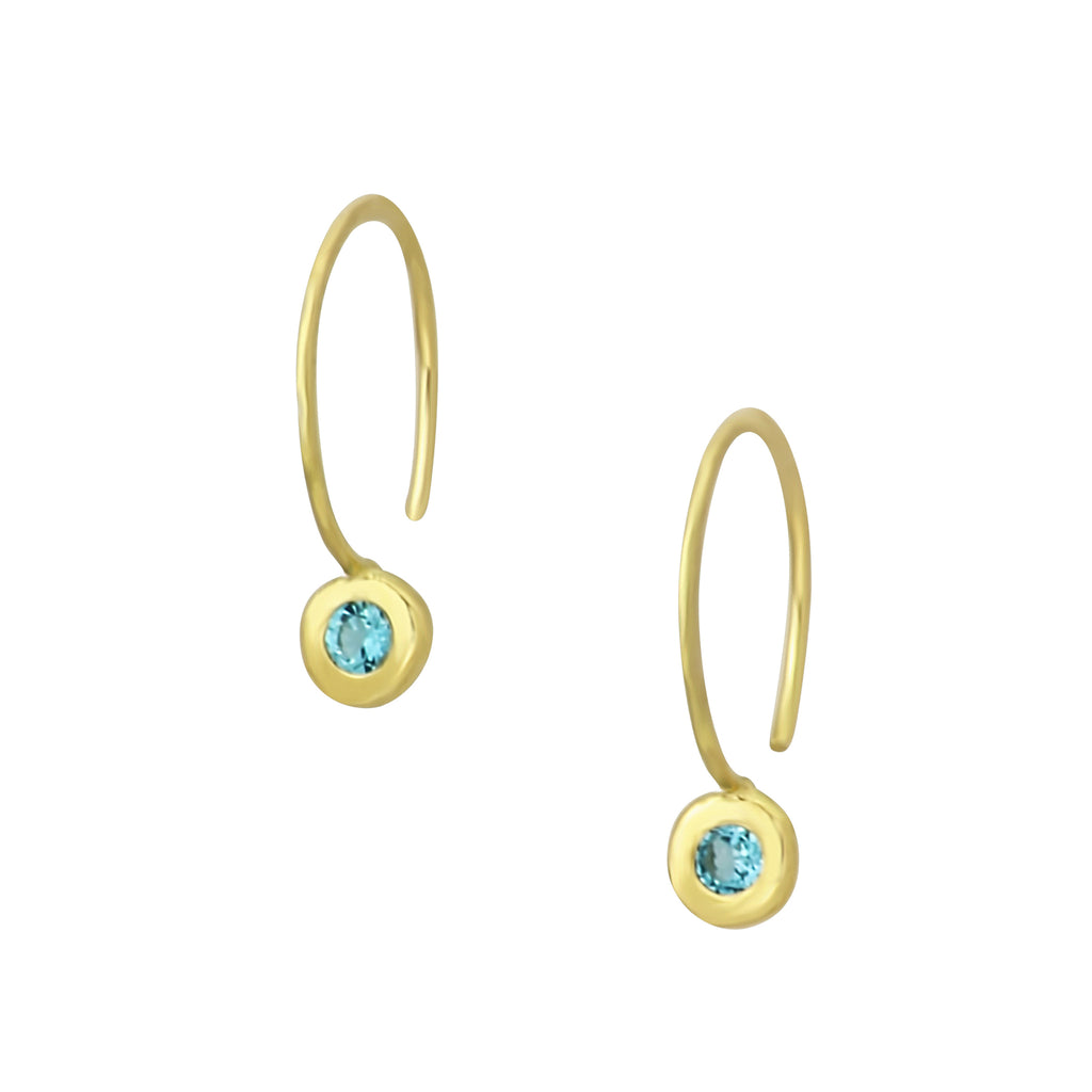 Emily Claire Designs Gold Topaz Flow Hoops