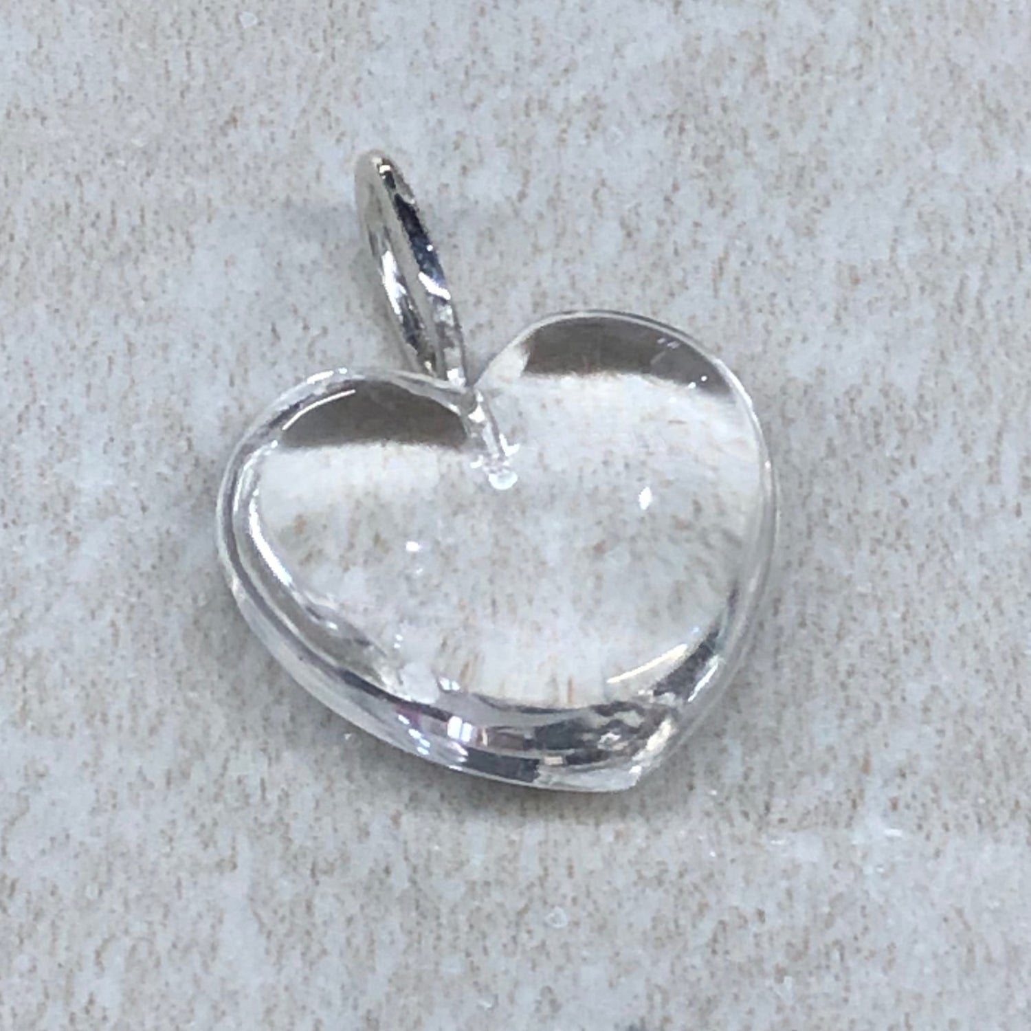Crystal Quartz Heart Pendant