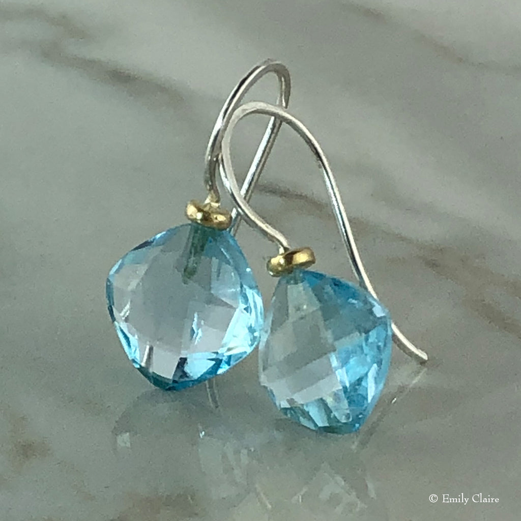 Blue Topaz Cushion Drops