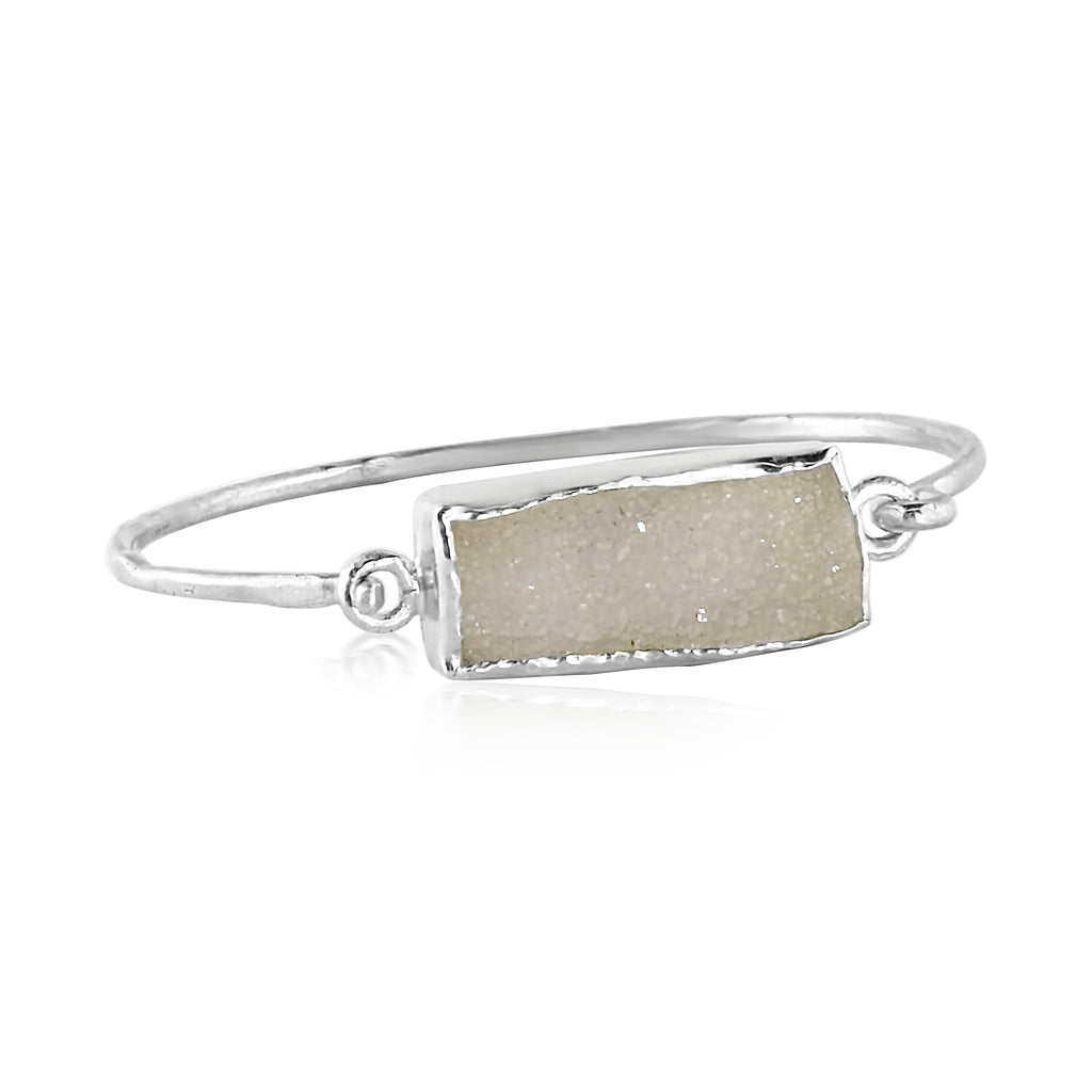 Rectangle Druzy Cuff