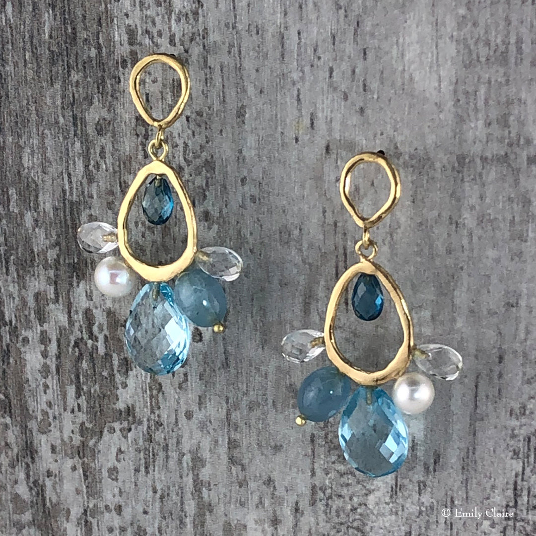 Blue Infinity Earrings