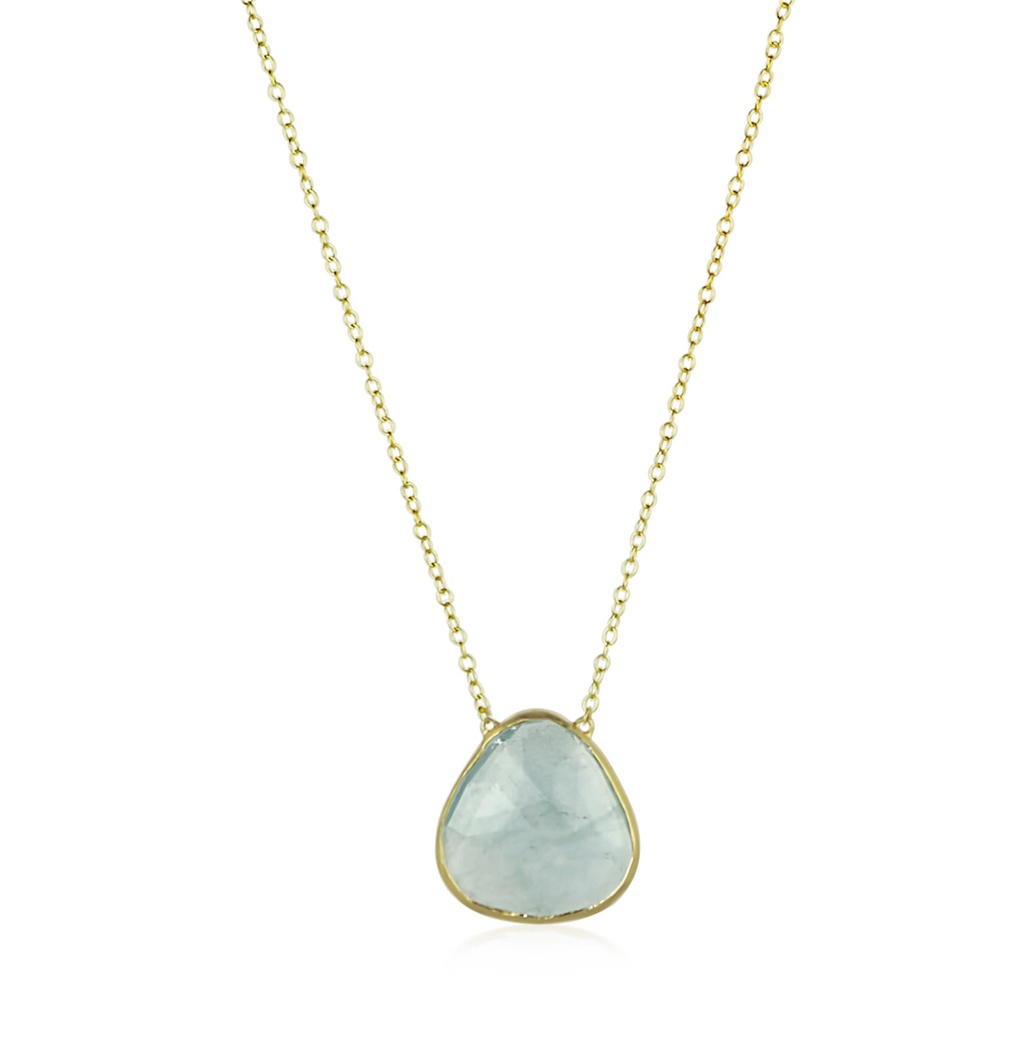 Gold Aquamarine Necklace