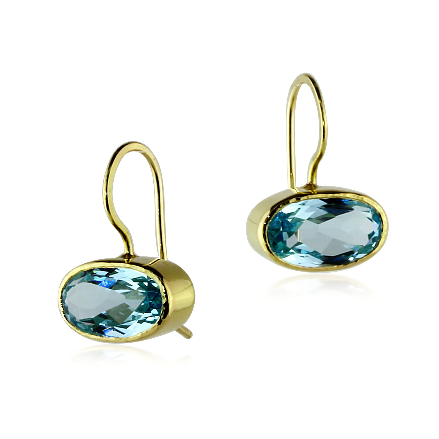 Gold Blue Topaz Drops