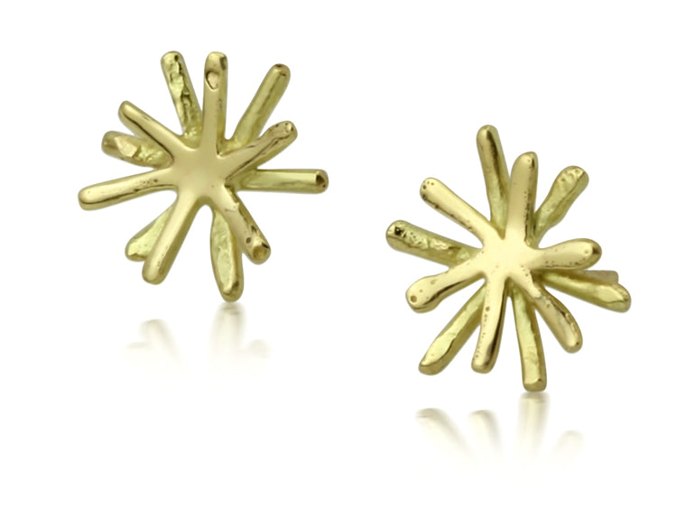 Gold Flow Burst Studs
