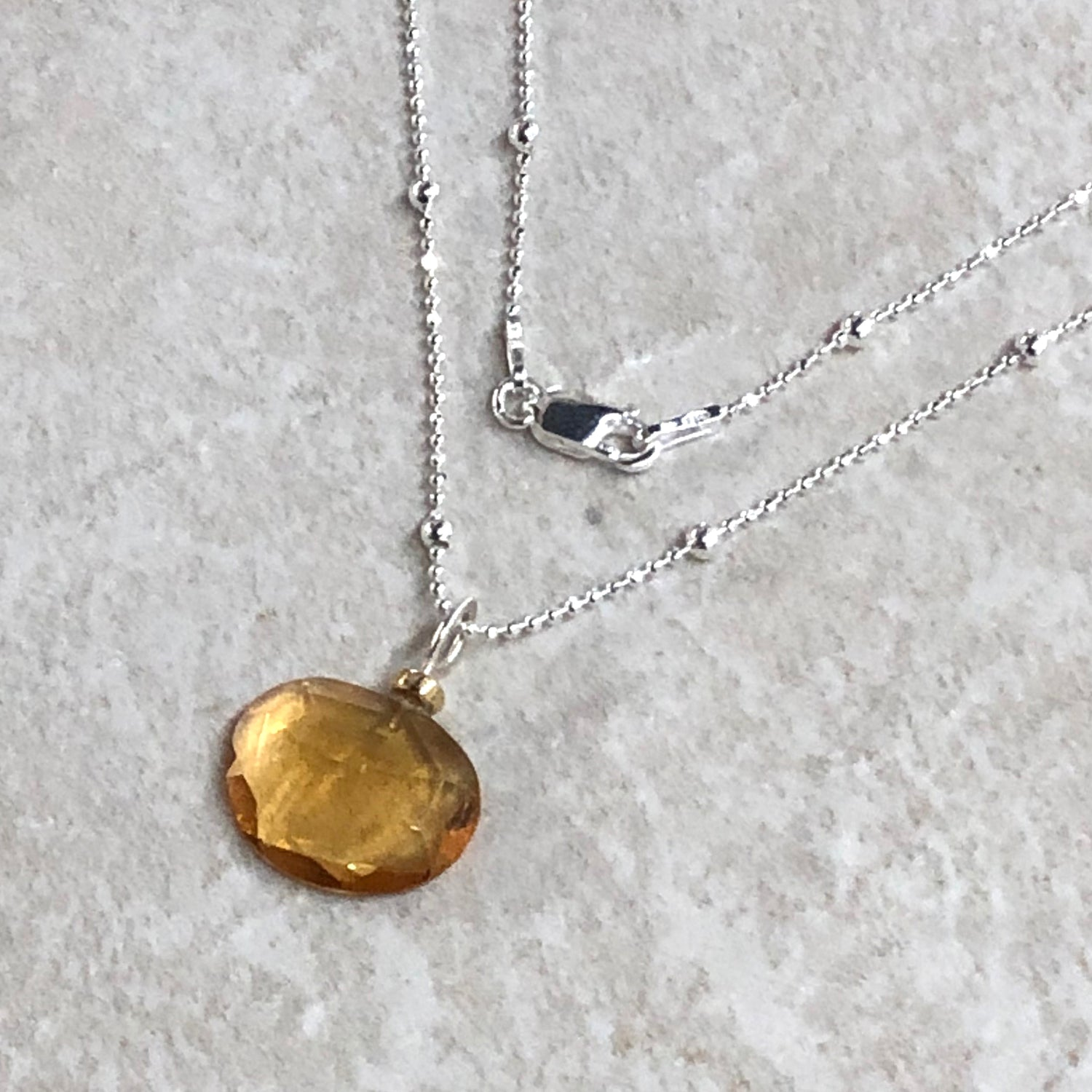Citrine Freeform Necklace