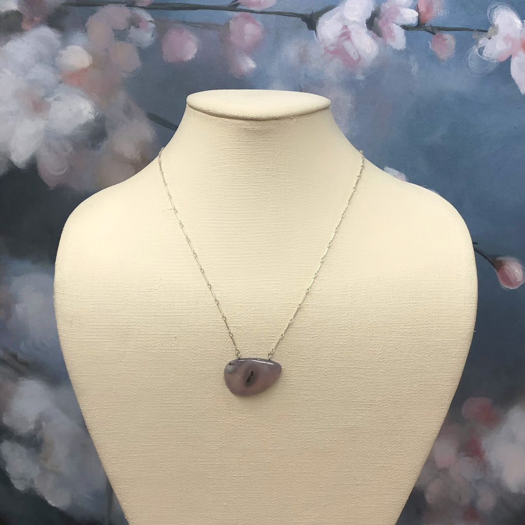 Moss Chalcedony Necklace