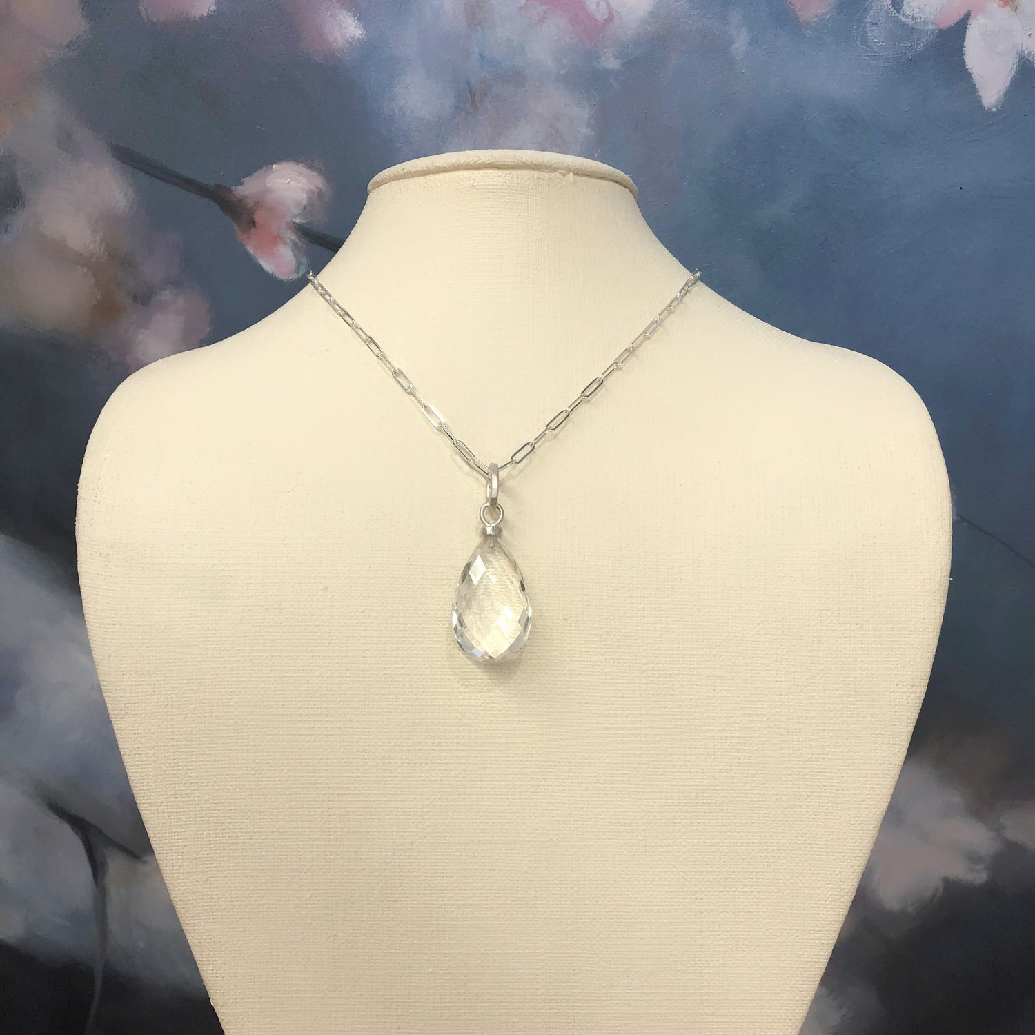 Teardrop Crystal Quartz Pendant
