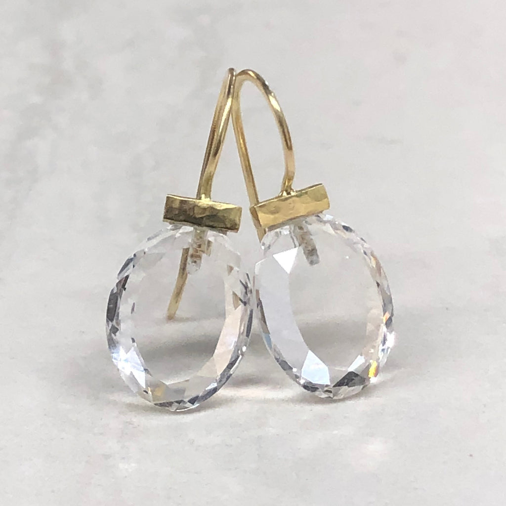 Gold Crystal Quartz Bar Drops