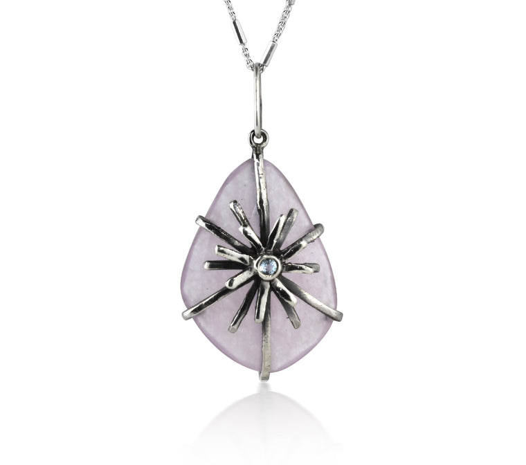 Lavender Quartz Burst Necklace