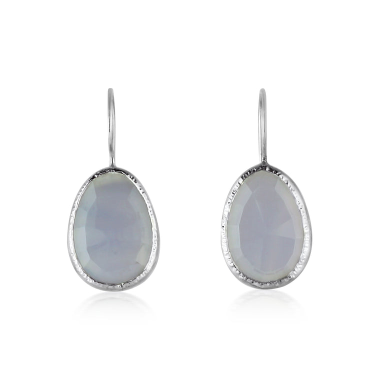 Silver Chalcedony Drops