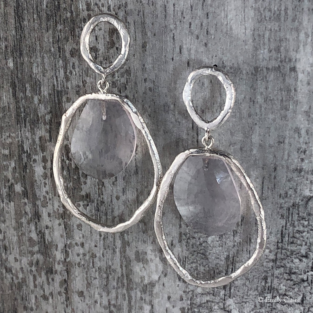 Rose Quartz Infinity Teardrops