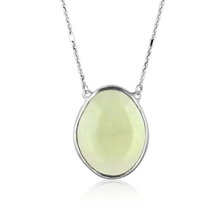 Silver Lemon Quartz Necklace